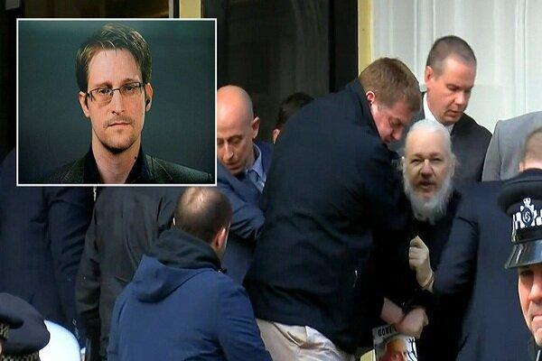 اسنودن: سازمان ملل بازداشت آسانژ را نقض حقوق بشر دانسته بود