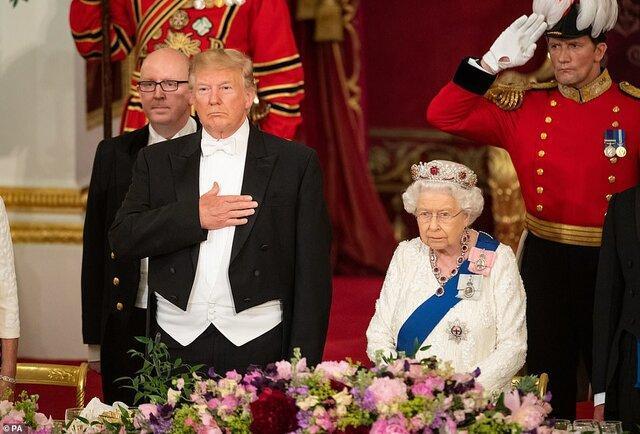 ترامپ: ملکه انگلیس تجربه ای خوشایندتر از دیدار با من در 25 سال گذشته نداشته است