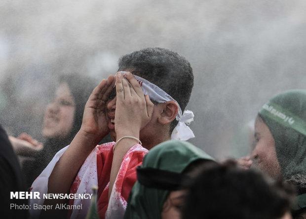 حمله نیروهای بحرینی به عزاداران حسینی با گاز اشک آور