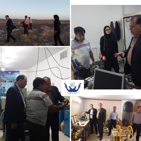 بازدید رئیس گروه نظارت دفتر آموزش و حمایت از تولید از کارگاه های گوهرتراشی فردوس