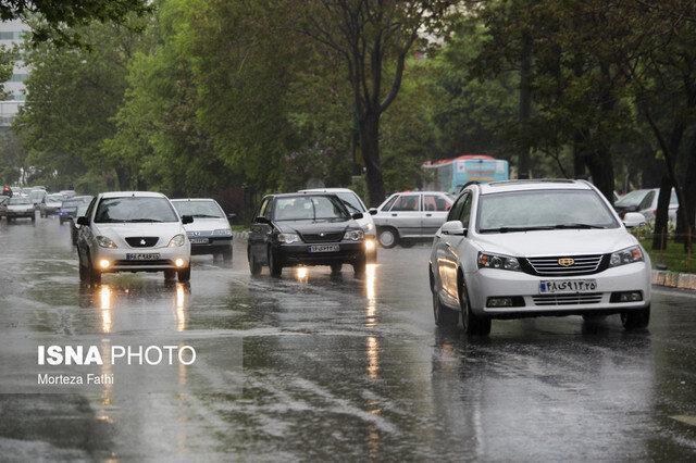 بارش باران و مه گرفتگی بعضی محورهای کشور