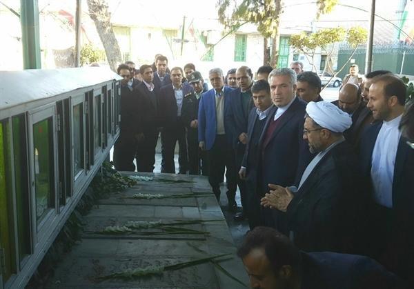 در سفر به استان البرز صورت گرفت ادای احترام رئیس سازمان میراث فرهنگی به مقام شامخ شهدا در کرج