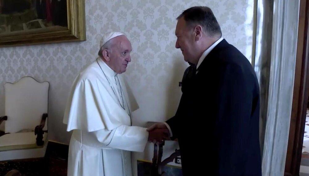 پمپئو با پاپ فرانسیس دیدار کرد