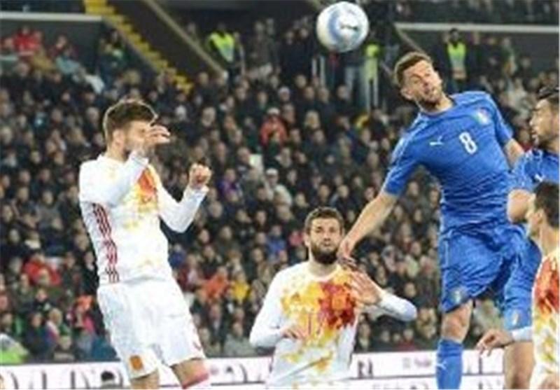 معین رنگ لباس رقبای بازی حساس یک هشتم نهایی یورو 2016، اسپانیا سفید می پوشد، ایتالیا آبی