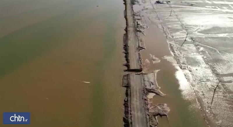 انسداد راستا دسترسی به کمپ کویری شهداد بر اثر طغیان رودخانه های فصلی