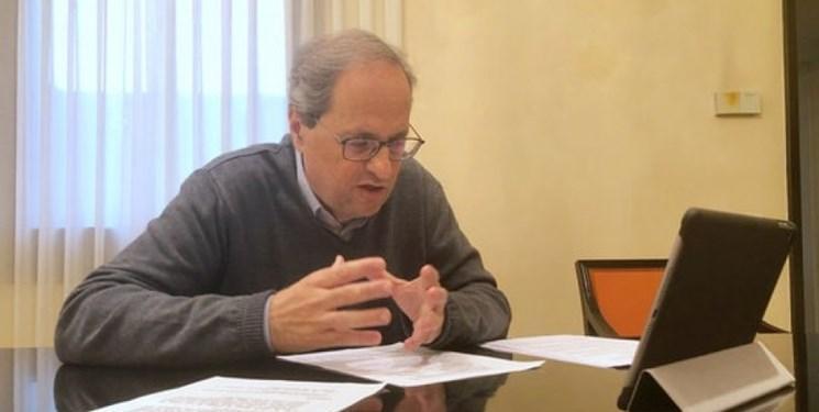 نتیجه تست کرونای رئیس منطقه کاتالونیا مثبت اعلام شد