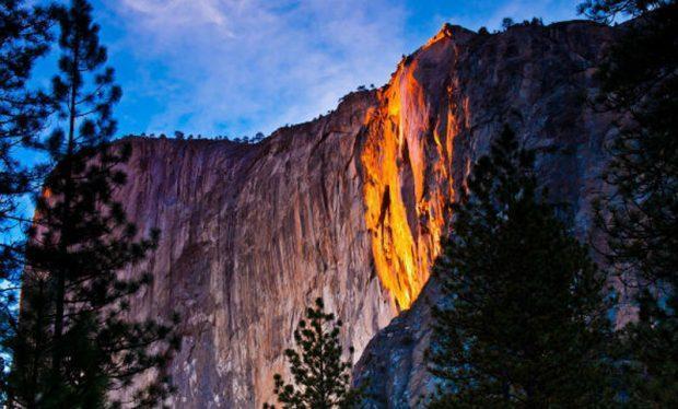 سفری به آبشار آتشین پارک ملی یوسمیتی کالیفرنیا