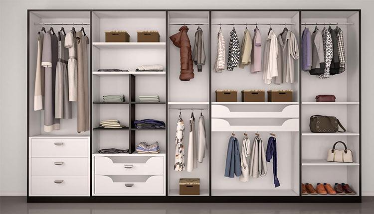 مدل کمد لباس اتاق خواب؛ 20 مدل جذاب و کاربردی