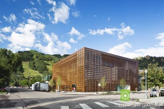 آشنایی با زیباترین مدل های نمای چوبی ساختمان در سال 2014