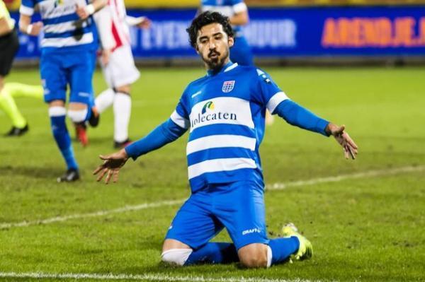 درخشش قوچان نژاد در لیگ هلند و هت تریک در شب پیروزی زوله